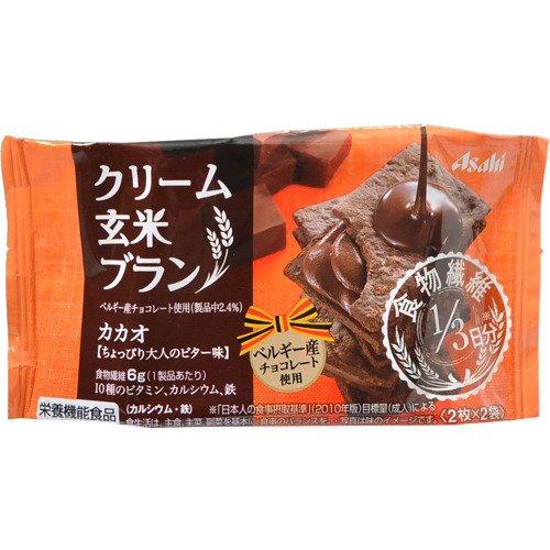 アサヒフードアンドヘルスケア バランスアップ クリーム玄米ブラン カカオ 2枚×2袋