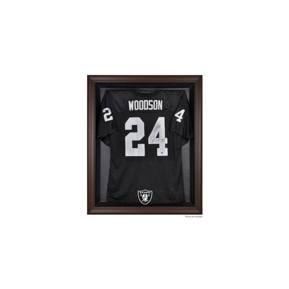 Mounted Memories Oakland Raiders Brown Framed Logo Jersey Display Case  Sports Fan Jerseys  Sports & Outdoors