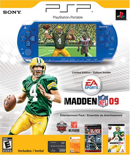 PSP Limited Edition Madden NFL 09 Entertainment Pack – Blue