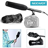 Neewer® NW-81 Microphone Kit 14.17inch Uni-Directional System Condenser Shotgun Microphone with NW-MIC-121 Furry Windscreen Muff for Canon Nikon Sony Olympus Pentax Panasonic and Other Camcoders