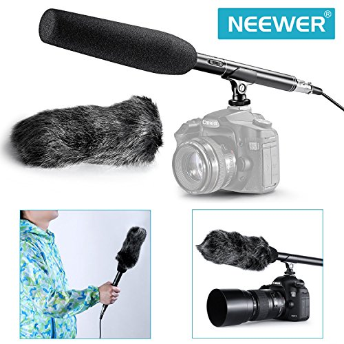 Neewer® NW-81 Microphone Kit 14.17inch Uni-Directional System Condenser Shotgun Microphone with NW-MIC-121 Furry Windscreen Muff for Canon Nikon Sony Olympus Pentax Panasonic and Other Camcoders (Shotgun Mic Condenser compare prices)