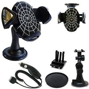 htt accessories chargeur allume cigare avec support ventouse 360 et ventilateur pour nokia c2. Black Bedroom Furniture Sets. Home Design Ideas