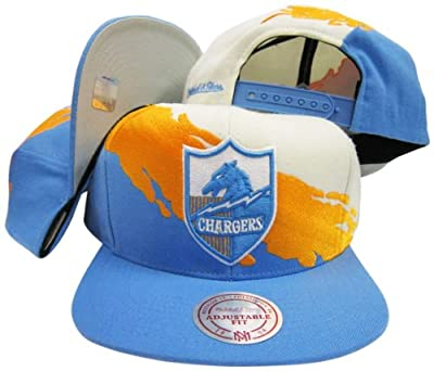San Diego Chargers Snapback Adjustable Plastic Snap Mitchell & Ness Hat / Cap