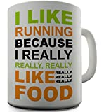 I Like Running Funny Design Novelty Gift Coffee Tea Office Ceramic Mug