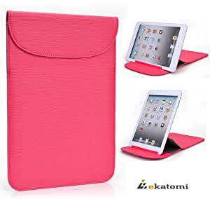[Flexi-Stand] PINK   Universal 7 Tablet Case Ultra Slim Wrapper Stand for Samsung P1010 Galaxy Tab Wi-Fi. Bonus Ekatomi Screen Cleaner
