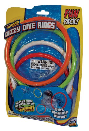Prime Time Toys - Diving Masters Dizzy Dive Rings (4 Pack Pool Dive Toys) - 1