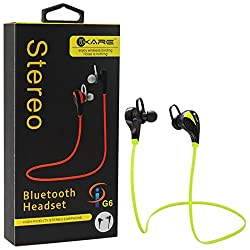 iKare Wireless Headphones G6 V4.1 Bluetooth Stereo In-Ear Noise Cancelling Sweatproof Headphones with Microphone (Lime Green)