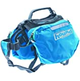 Outward Hound Kyjen  22011 Quick Release Backpack Saddlebag Style Dog Backpack, Large, Blue