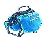 Outward Hound Kyjen  22011 Quick Release Backpack Saddlebag Style Dog Backpack, Large, Blue