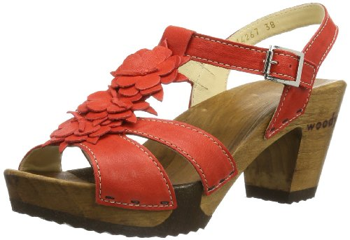 Woody Womens Sarah Clogs And Mules Red Rot (Dixan Rot) Size: 42