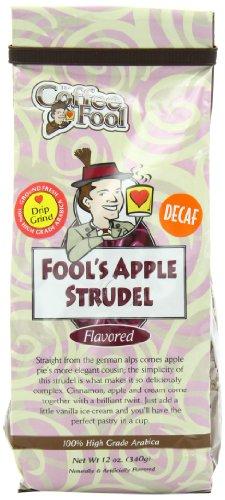 The Coffee Fool Drip Grind, Fool'S Decaf Apple Strudel, 12 Ounce