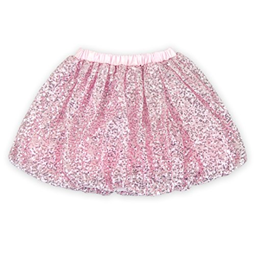 Rush Dance Sparkle Sequin Ballerina Girls Dress-Up Princess Costume Recital Tutu (XXL (5-6T), Light Pink) (Dancing Shark Costume compare prices)