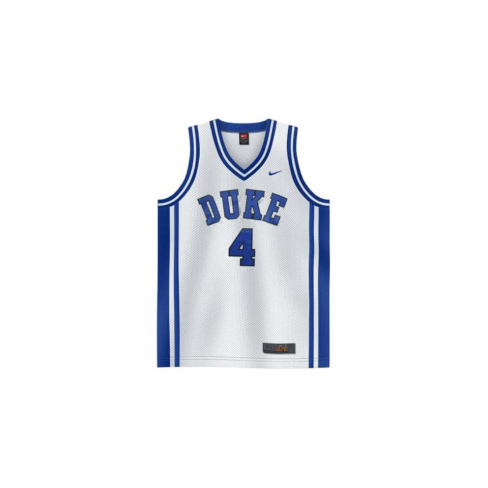 1b9052aa8 Nike Elite Duke Blue Devils  4 White Replica Basketball Jersey on ...