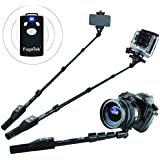 #1 Professional High End Selfie Stick Fugetek FT-568 For Apple, Android, Gopro, & DLSR Cameras, Wireless Bluetooth Remote, US Support