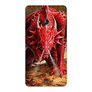 Special Red Fantastic Dragon Back Case Cover for Lumia 540