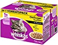 Whiskas 1+ Katzenfutter Geflügelauswahl in Sauce, 48 Beutel (2 x 24 x 100 g)