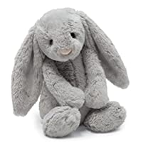 Jellycat Bashful Grey Bunny, Medium - 12
