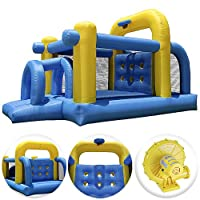 Cloud 9 Tunnel Course Bounce House - Inflatable Bouncer Climbing Obstacle with Basketball Hoop by Cloud 9 Bouncers