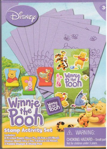 Disney Winnie the Pooh Stamp Activity Set (Various box designs)