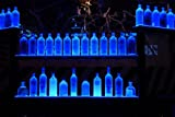 """37"""" Wall Mount LED Lighted Bottle Shelf with Wireless Remote Control"""