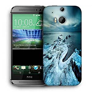 Snoogg Cool Ice Printed Protective Phone Back Case Cover For HTC One M8
