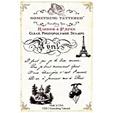 Something Tattered April Avril French Month Clear Stamps, 4 by 4-Inch