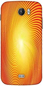 Snoogg Trendy Sunburst Designer Protective Back Case Cover For Micromax A110