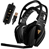 GAMDIAS EROS Elite EQ Gaming Headset, 3.5mm USB with USB Extension, Virtual Surround Sound 7.1, 50mm gaming-class drivers, Smart remote control for EQ mode, LED lighting and Cooling structure(GHS3610)