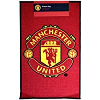 Official Manchester United FC Rug - A Great Gift / Present For Men, Boys, Sons, Husbands, Dads, Boyfriends For Christmas, Birthdays, Fathers Day, Valentines Day, Anniversaries Or Just As A Treat For Any Avid Football Fan