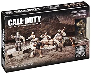 Mega Bloks Call of Duty Desert Troopers Collector Construction Set