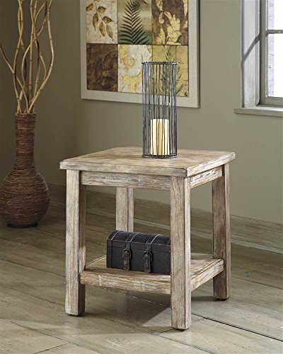 Ashley Furniture T500-302 Chair Side Vintage Rustic End Table 1