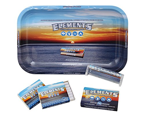 Genuine-Elements-Bundle-Kit-Cigarette-Rolling-Starter-Variety-Pack-1-Rolling-Tray-1-Pack-Rice-Papers-300-2-Packs-Prerolled-Tips-42-total-1-Rolling-Machine