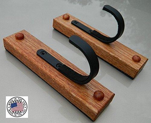 1 Place FlatIron TM Red Oak Gun Rack Wall Mount One Set (Handmade in the U.S.A.) (Gun Rack Wood compare prices)