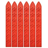 UNIQOOO 6Pcs 3 12 Red Carved Wax Sealing Sticks For Retro Vintage Wax Seal Stamp