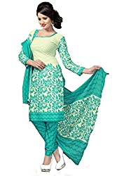 Vidhya LifeStyle Women's A-Line Poly Cotton Printed Unstitched Dress Material(Rama)