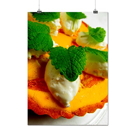 Doux Crème Tarte Dessert Matte/Glacé Affiche A0 (119cm x 84cm) | Wellcoda