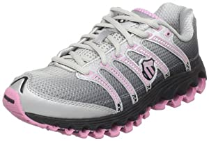 K-Swiss Women's Tubes Run 100 Running Shoe,Black Fade/Bubblegum,9.5 M US