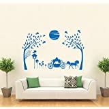 Hoopoe Decor Beautiful Nature With Horse And Jungle Wall Stickers And Decals - B011GV4F70