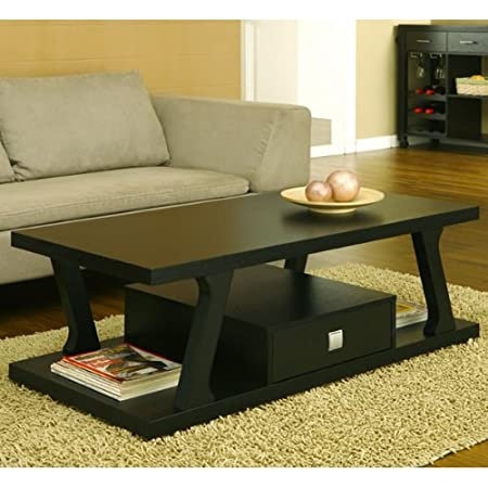 Selby Contemporary Style Black Finish Coffee Table