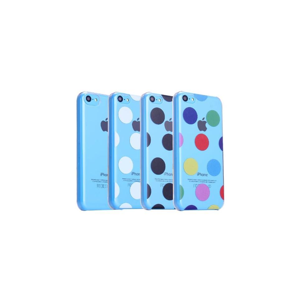 Bargain Bulk Pack of iPhone 5c Cases. Etui Le Bon (tm) case for iPhone 5C. Includes the following iPhone 5c cases. 1 x Clear iPhone 5c case, 1 x Multi colored Polka Dots iPhone 5c case, 1 x Black Polka Dots iPhone 5c case and 1 x White Polka Dots iPhone 5c