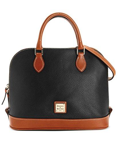 dooney-bourke-pebble-zip-zip-satchel-black