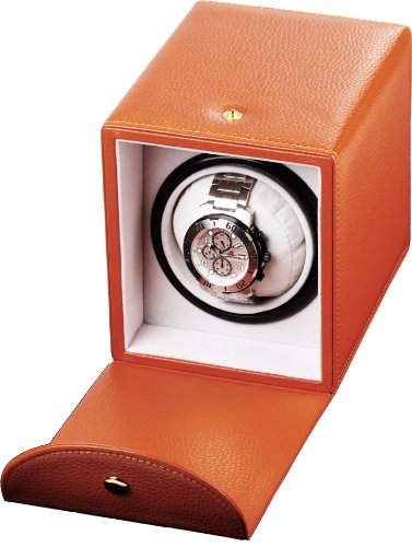 Auer Accessories Abas 211BRL Watch Winder For 1 Watch Brown Leather