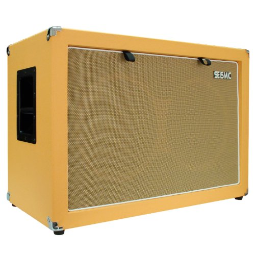 "Seismic Audio - 2X12 Guitar Speaker Cab Empty - 7 Ply Birch - 212 Speakerless Cabinet New 12"" Tolex - Orange Tolex - Wheat Cloth Grill - Front Or Rear Loading Options"