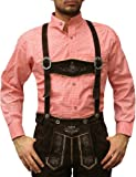 Traditional Bavarian Shirt for Lederhosen/Oktoberfest,Color: Red/Checkered