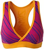 Zumba Fitness Women's Fast Dash V-Bra Top (Pomegranate, X-Small)