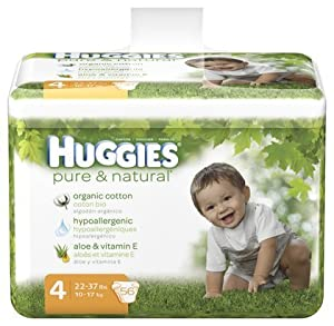 Huggies Pure & Natural Baby Diapers - Size 4 (56 Count)