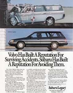 Amazon.com: 1990 Subaru Legacy: Crash Test, Volvo, Subaru Print Ad