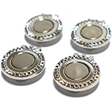 4 Silver Magnetic Hat Clips For Metal Golf Ball Markers (Type #2)