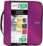 Five Star Zipper Binder Plus Multi Access File, 2-Inch Capacity, 13.75 x 12.12 x 3.5 Inches, Berry Pink/Purple (72540)