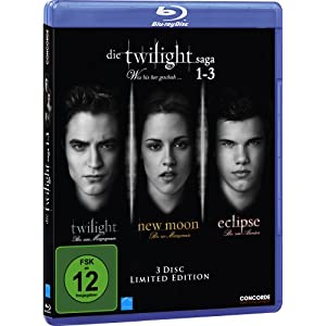 Die Twilight Saga 1-3: Twilight/New Moon/Eclipse (Blu-ray)